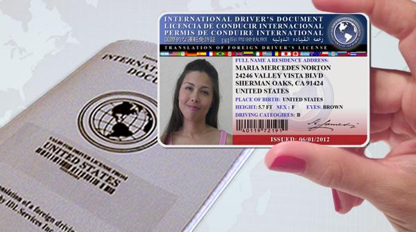 registro internacional de conducir